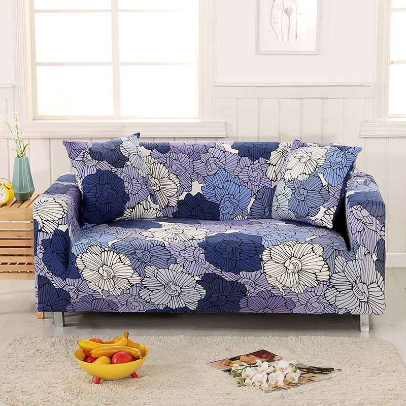 Universal Elastic Leaves Couch/Corner Sofa Covers For Living Room Home Decor Covering For Furniture Stretch Sectional Sofa Cover