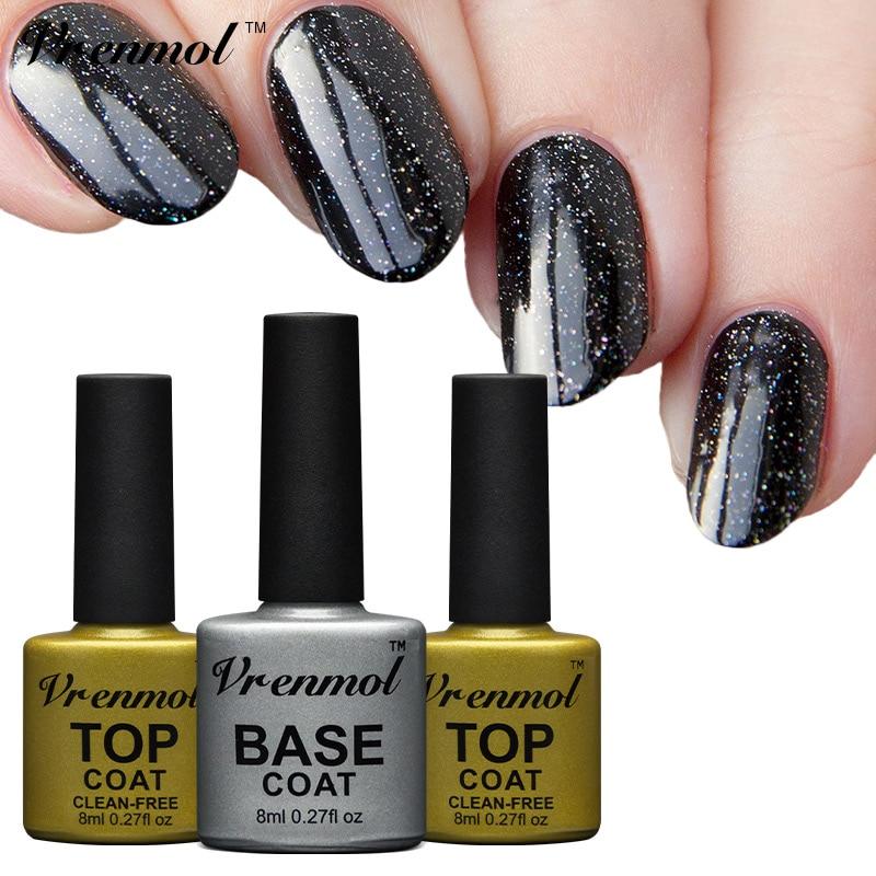 Vrenmol 1pcs Gel Nail Primer Top and Base Coat Long Lasting Non ...