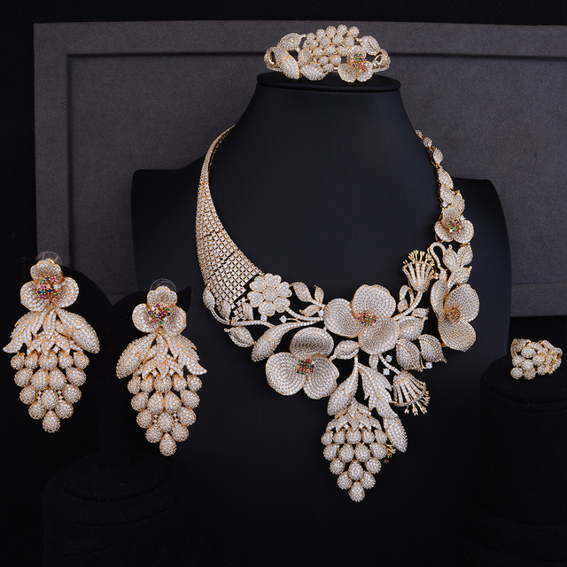 Luxury Cubic Zirconia Jewelry set