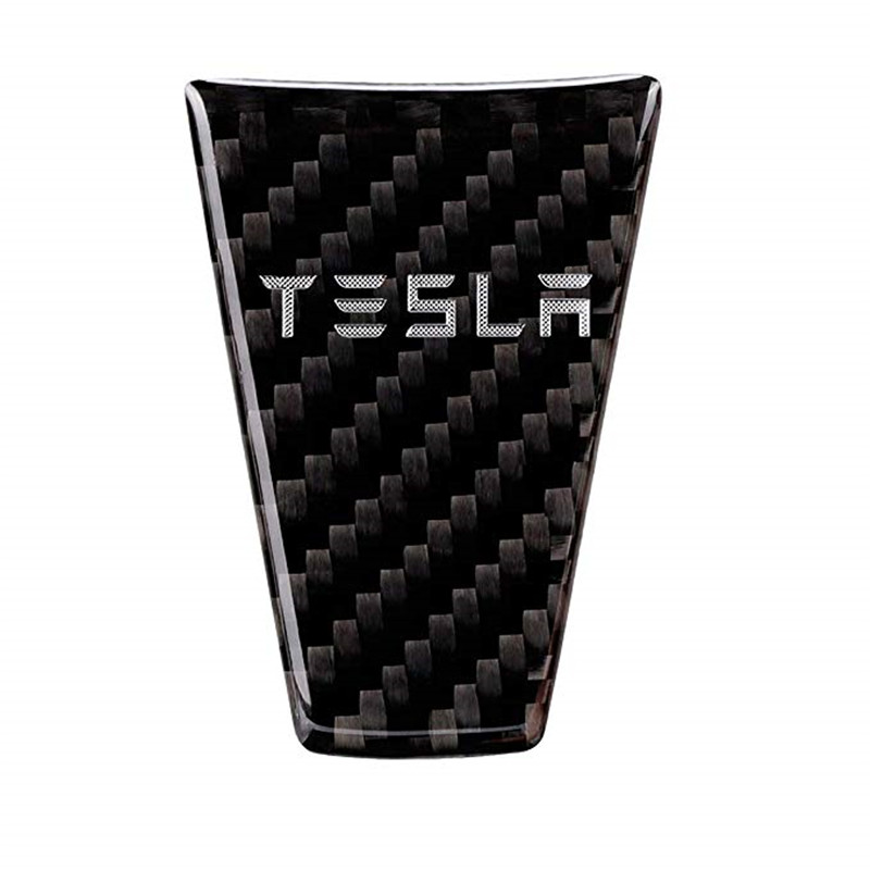Car Interior Steering Wheel Cover,Car Carbon Fiber Steering Wheel Decoration Cover Sticker For Tesla Model S And Model X