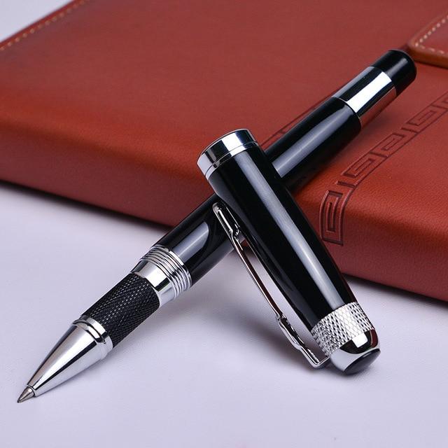 Silver black Monte Roller ball Pen send a refill School Office supplies ball pens high quality send friend business gift 088