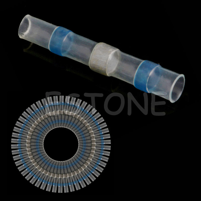 50Pcs 16 14AWG Wire Splice Connector Waterproof Solder Sleeve Heat Shrink Butt in Connectors from Lights Lighting