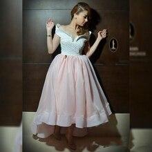 Schöne Schatz Eine Linie Bördelte Abendkleider Puffy Flügelärmeln perlen Real Sample Rosa Heißer Verkauf Bodenlangen Formales Kleid frauen