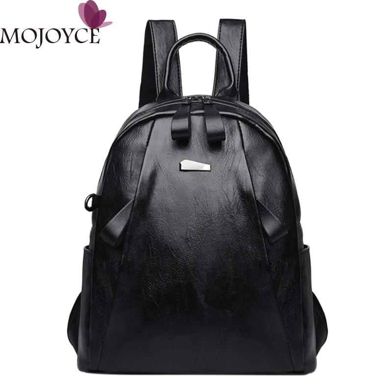 Fashion Women PU Leather Backpack School Bags for Teenage Girls College Student Shoulder Bag Women Travel Daypack Backpacks 2018 brand women backpack pu leather school backpacks for teenage girls shoulder bag large capacity travel bags