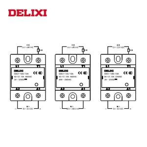 DELIXI CDG1 твердотельное реле SSR-10DA 15DA 25DA 40DA 60DA 3-32 В постоянного тока в 24-480 В переменного тока SSR однофазный контроль постоянного тока
