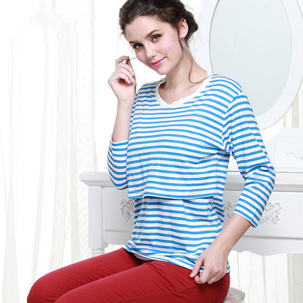 Nursing Clothes T-shirts for Pregnant Women Cotton Clothing for Feeding