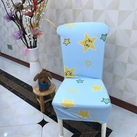Cartoon Yellow Stars Spandex Dining Room Chair Covers Decorations For Chairs Cheap But Fashion Polyester Chair