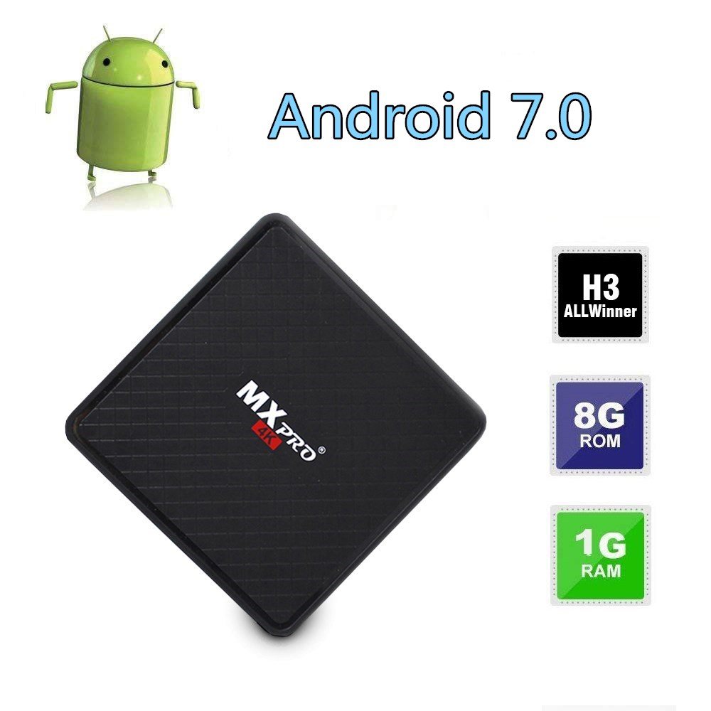 D'origine MINI TV BOX Allwinner H3 Quad-core Smart 4 K Ultra HD 1G 8 GO Android 7.0 OS octa core WIFI IPTV Media Player Set-top box