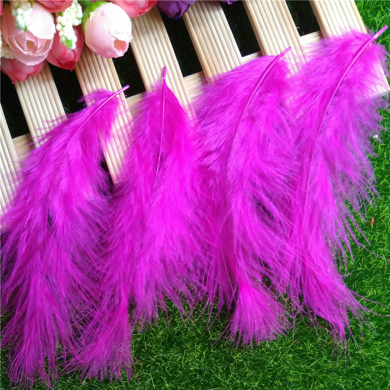 Wholesale Rose Red Turkey feathers ! 10pcs natural turkey feathers 8-15CM, Turkey feather Diy plumes jewelry accessories