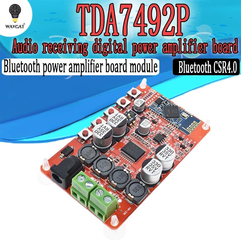 TDA7492P 50W+50W Digital Amplifier Board CSP8635 Bluetooth 4.0 Chip BT Audio Receiver Amplifier Board Module PartsTDA7492P 50W+50W Digital Amplifier Board CSP8635 Bluetooth 4.0 Chip BT Audio Receiver Amplifier Board Module Parts