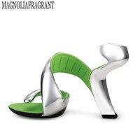 2017 Летний стиль звезды без обувь на подошве женские с открытым носком сандалии на высоком каблуке круглый открытый носок W732