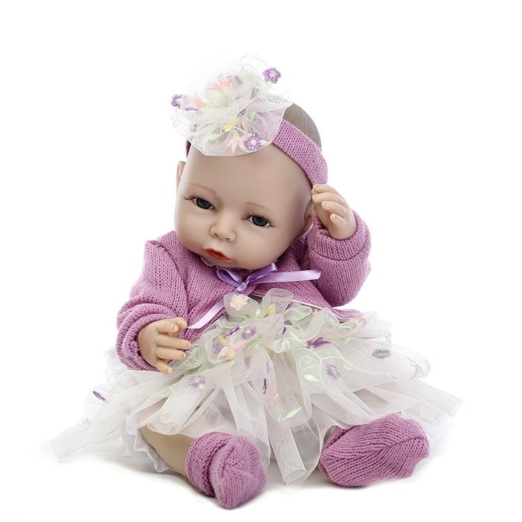 Free Shipping Full Silicone Vinyl Living Doll Lifelike Pink Girl Babydoll  Babies Bathing Toys karmart cathy doll 2 in 1 vitamin c tint tinted gluta gloss pink lip korea free shipping