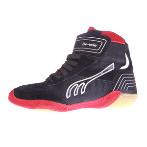 Zapatos de lucha de cuero para hombre y mujer, suela de goma, transpirable, boxeo W0II
