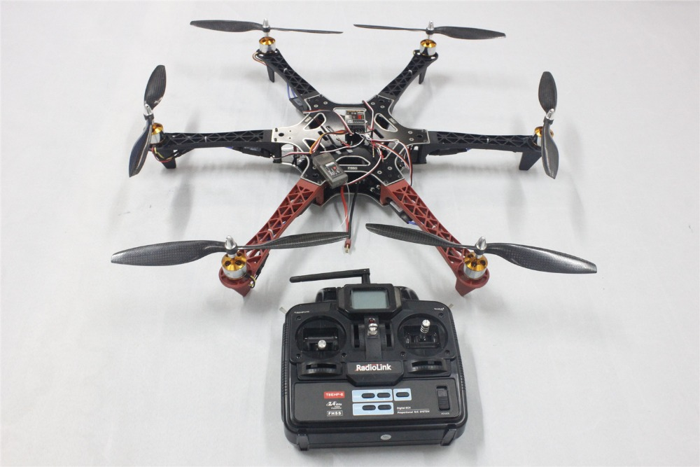 F05114-T F550 Drone FlameWheel Kit With QQ HY ESC Motor Carbon Fiber Propellers + RadioLink 6CH TX RX +Freeship