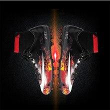 цены на 2019 AG Lava Football Shoes Men High Ankle Indoor Soccer Cleats Kids 7 Turf Superfly Futbol Sport Shoes Women Sneakers 10II CR  в интернет-магазинах