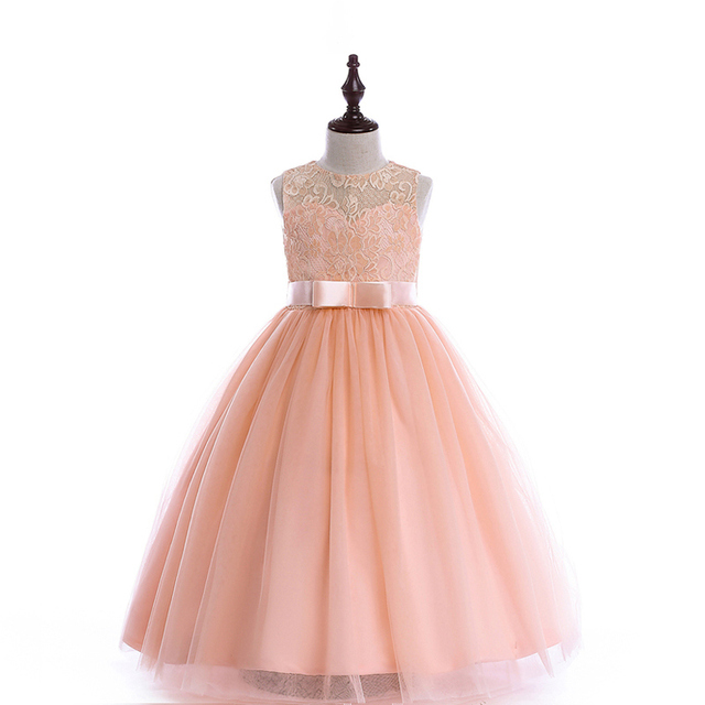 49c344a65f854 US $19.88 30% OFF|A line kids dresses girls long style party dress 2 colors  8 10 12 14 16 Years kids teens clothes teenagers wedding girls dress-in ...