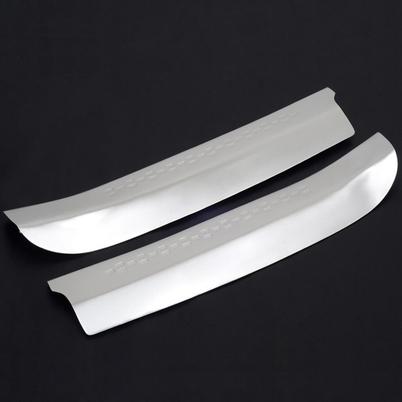 Stainless Steel Inner Rear Bumper Protector Plate Trunk Door Sill Threshold Pad For Nissan Qashqai 2007-2013 first genaration front rear bumper protector sill trunk guard skid plate trim cover plate for nissan qashqai 2007 2008 2009 2010 2011 2012 2013