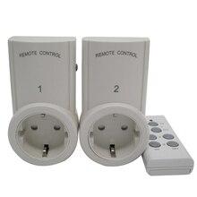 2 pçs tomada de controle remoto sem fio casa tomada de energia interruptor de luz + 1 remoto conector da ue plug BH9938 2 dc 12 v