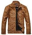Ropa de primavera 2016 nueva moda de marca de motocicletas de cuero genuino, hombres chaqueta de cuero, envío Gratis