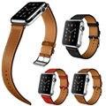 Pulseira de couro genuíno de alta qualidade para a série 2 apple watch única turnê bracelet watch strap para apple watch iwatch 42mm 38mm