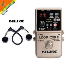 цены NUX Loop Core Deluxe Guitar Effects Pedal Loop Station 8 Hours Looping Time Built-in 40 Drum Patterns with Pedal True Bypass