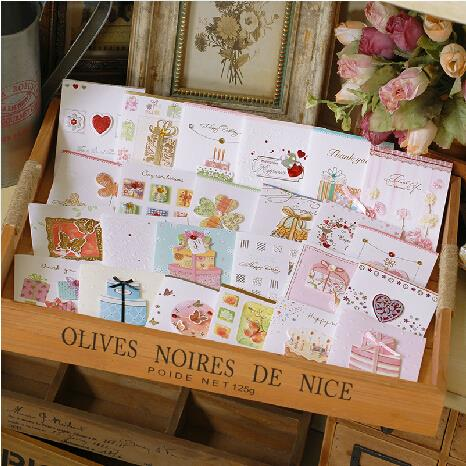 Aliexpress buy handmade mini greeting cardsthank youbirthday handmade mini greeting cardsthank youbirthday small greeting cards for kids m4hsunfo