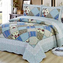 Moscow Sent High Quality Quilted Bedspread On Bed Twin Bedspreads King Queen Size Double Pillowcase