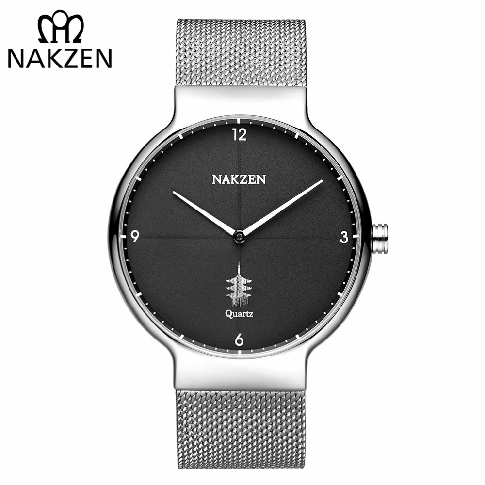 NAKZEN Men Casual Ultra Thin Quartz Watch Top Brand Luxury Waterproof Mens Watches Male Sports Wrist Watch Relogio Masculino