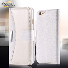 KISSCASE Business Fashion Flip Leather Case For iPhone 8 7 6 5 5S SE Case Card Slot Wallet Phone Cover For iPhone 8 7 6 6S Plus