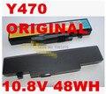 Batería 10.8 v 48wh original del ordenador portátil para lenovo ideapad y470 y471 y570 l10c6f01, l10p6f01, l10p6y01, l10s6f01