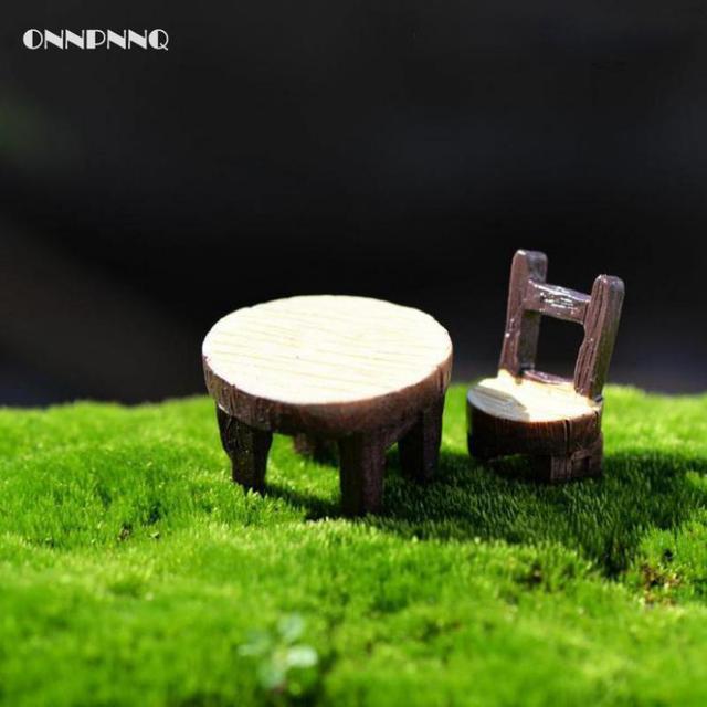 Us 17 49 Di Sconto2 Pzlotto Fai Da Te Sedia Da Tavolo In Resina In Miniatura Di Alta Qualità Fairy Garden Miniature Artigianato Allingrosso