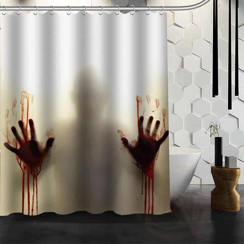 Walking Dead Horrible Shower Curtain