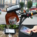 Motorcycle Phone Holder Rearview Mirror Mount Mobile Phone Holder Waterproof Case Bag For Samsung Galaxy A7 J7 On7 C7 A8 S7 S6