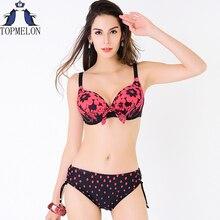 plus size swimwear plavky swimsuit women Swimwear bikini set swimsuit solid  female Large Size Swimwear bathing suit
