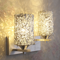 Modern Aluminume cylinder Corridor Wall Lamp Bedroom beside silver Balcony wall sconces Lighting Fixtures Porch Hallway Wall