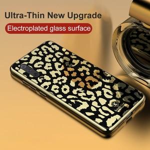Image 2 - OTAO nouveau étui en verre imprimé léopard pour Xiao mi mi 8 Lite 9 SE étui souple en TPU pour Coque rigide Xiao mi 8 Explorer