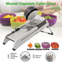 Manual Vegetables Cutter 18 Types Use Mandoline Shredders Slicer Onion Potato Cutter Carrot Grater Tools Kitchen Accessories