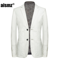 Aismz High Quality Smart Linen Men Slim Casual Business White Suit Blazer jackets,Mens Blazer Hombre Casaco Masculino Jacket