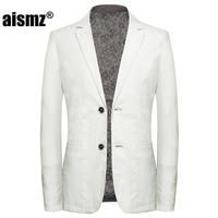 Aismz High Quality Smart Linen Men Slim Casual Business White Suit Blazer jackets,Mens Blazer Hombre Casaco Masculino Jacket