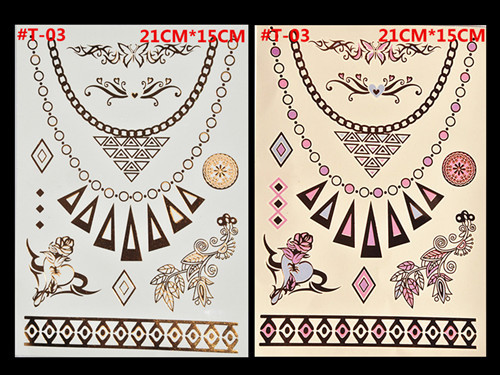 Free Shopping Sex Products Temporary Tattoo For Man And Women Waterproof Stickers makeup make up Flash Gold Tattoo 2
