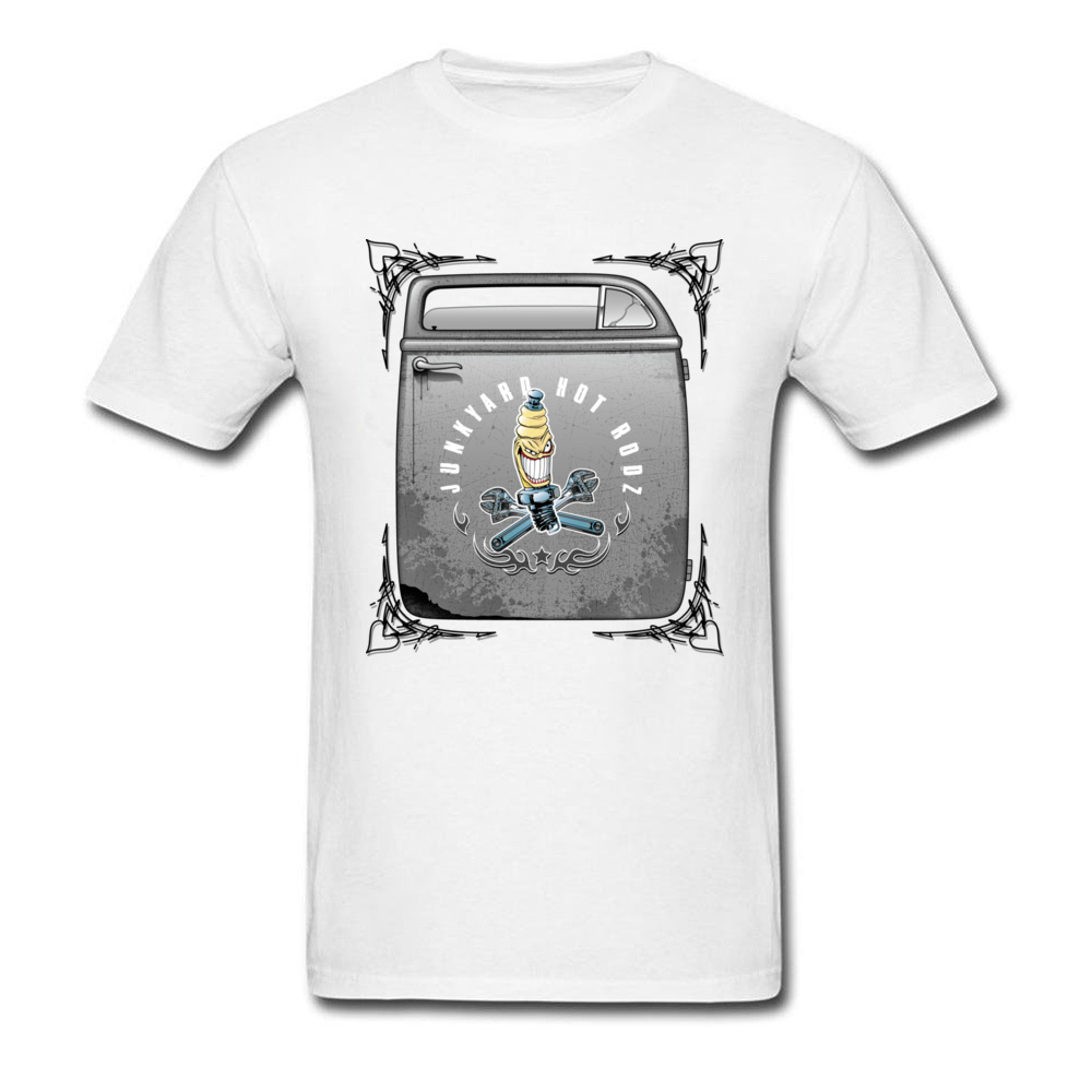 Shop truck Door T-shirts Print Short Sleeve Retro O-Neck 100% Cotton Tops Shirts Family Tee Shirt for Men NEW YEAR DAY