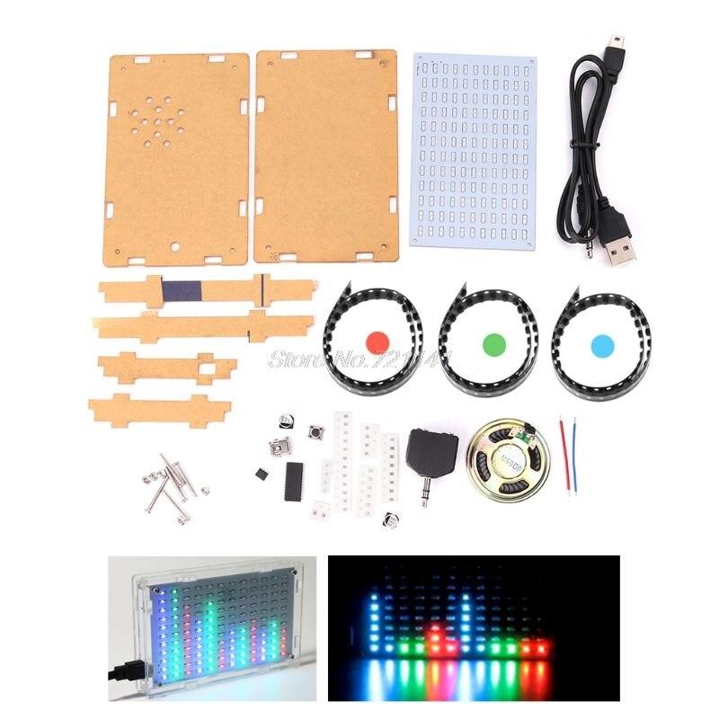 Colorful Music Spectrum LED Display DIY Kit Flashing Light Electronic Making ComponentsColorful Music Spectrum LED Display DIY Kit Flashing Light Electronic Making Components