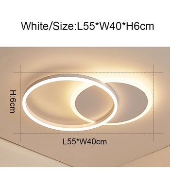 Remote Controller 2/3/5/6 Circle Rings Modern led Chandelier For living Room Bedroom Study Room White/Brown Color Chandelier 8