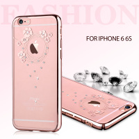 For Apple IPhone 6 4 7 DEVIA Garland Series Rhinestone Hard Skin Case For IPhone 6