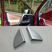 Car Accessories Interior Decoration LHD ABS Inner A Pillar Triangle Cover 2pcs For Toyota RAV4 2016 Styling