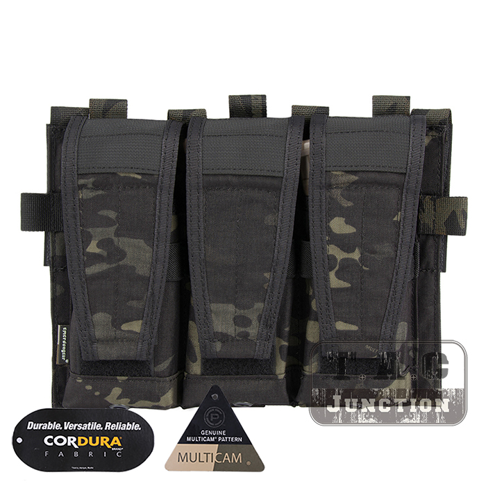 Emerson Tactical AVS Detachable Flap M4 M16 AR15 5.56 .223 Triple Magazine Pouch Emersongear Hook & Loop Mag Holder Ammo Bag diversity management triple loop learning