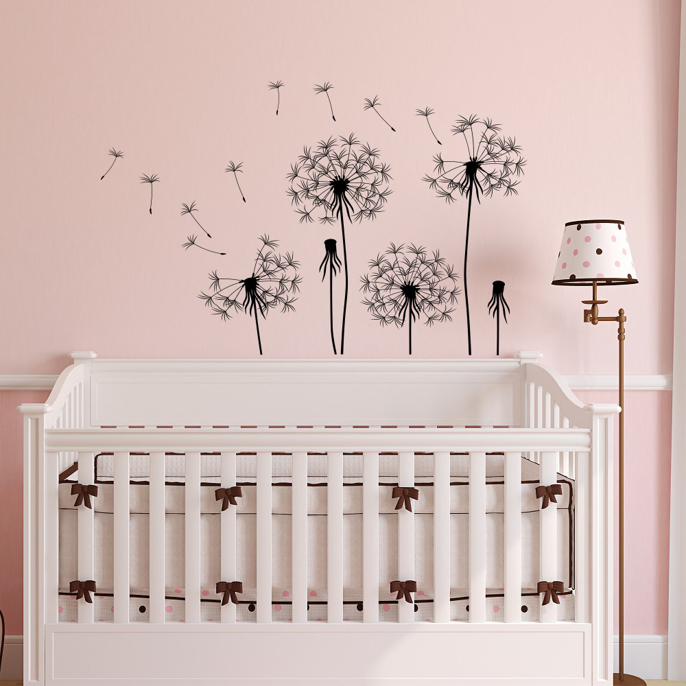 Wall Decal Dandelion Seeds Flower Vinyl Sticker Nursery Baby Room