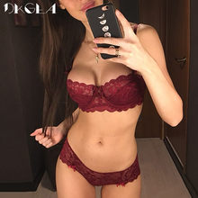 93b77c76f7 Fashion Sexy Bra Sets Plus Size C D Cup Thin Cotton Underwear Women Set  Lace Comfortable Brassiere