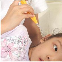 1 PCS Light Earwax spoon digging luminous dig Ear Syringe japanese style child baby ears cleaning with light wholesale