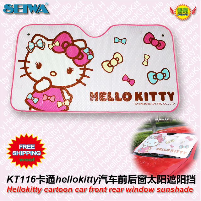 car accessories HelloKitty front window sunshade Foils Windshield  Visor Cover UV Protect Car  Film sun shade KT116 freeshipping